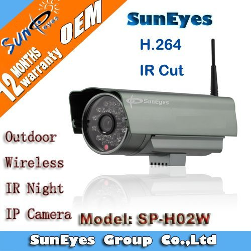SunEyes H.264 Wifi Wireless Outdoor IP CCTV Camera IR Cut SD Card Slot SP-H02W