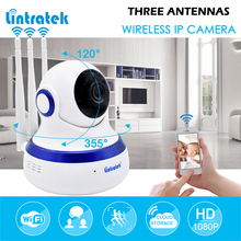 hot deal buy lintratek surveillance camera hd 1080p 2.0mp mini cctv wifi ip camera cloud storage three antenna home security ptz camera ipcam