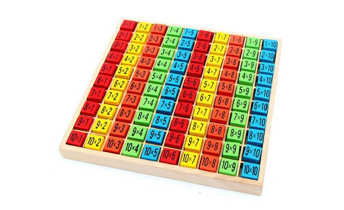 무료 배송 아기 나무 장난감 99 곱셈 테이블 수학 - 학습 및 교육 - 사진 3