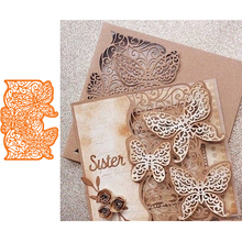 Lace Butterfly Frame Metal Cutting Dies for Scrapbooking 2019 Paper Craft Embossing Die Card Making Stencils Knife Mould