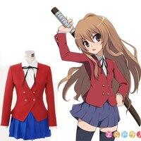 Biamoxer Japanese Anime TIGER DRAGON Toradora Aisaka Taiga Cosplay Costume School Uniform for Girls