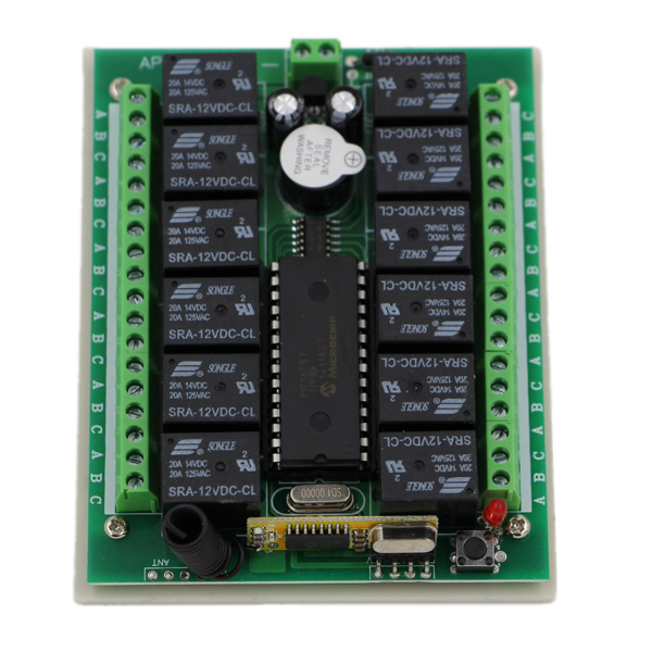 Smart Home DC 12/24V Wireless Remote Control Switch 12CH Relay Module Receiver Learning Code 315/433Mhz