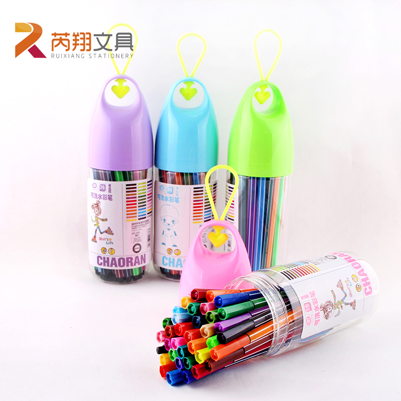 Ruixiang 24/36 Colors Washable Watercolor Pens Drift Bottle Packing Non-toxic Safe Children Student Drawing Graffiti Art Markers student children washable markers drawing painting watercolor pen gram pen hand painted graffiti kids gifts