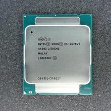 Intel Xeon E5 2678 V3 CPU 2,5G обслуживание LGA 2011-3 e5-2678 V3 2678V3 ПК настольный процессор для X99 материнская плата