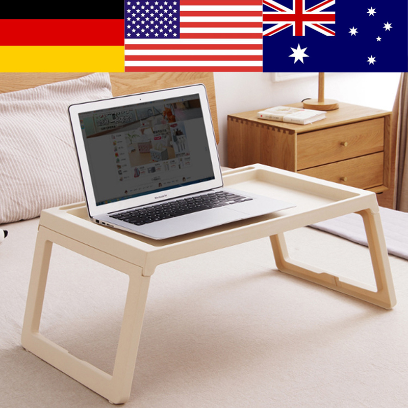 Simple Laptop Table Creative Foldable Computer Desk Portable Bed Studying Table Notebook Desk For Sofa Bed Table Office Desk	 1pc white multifunctional light foldable table dormitory bed notebook small desk picnic table laptop bed tray