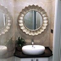 Европейский круговой ванной зеркало Подсолнечник камин Ресторан декоративное крыльцо туалетное зеркало настенные зеркала искусство