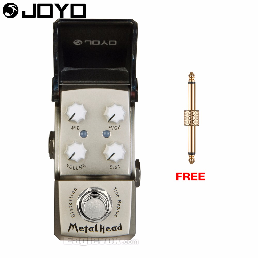 Joyo Ironman JF-315 Metal Head Distortion Guitar Effect Pedal True Bypass with Free Connector mooer hustle drive distortion guitar effect pedal micro pedal true bypass effects with free connector and footswitch topper