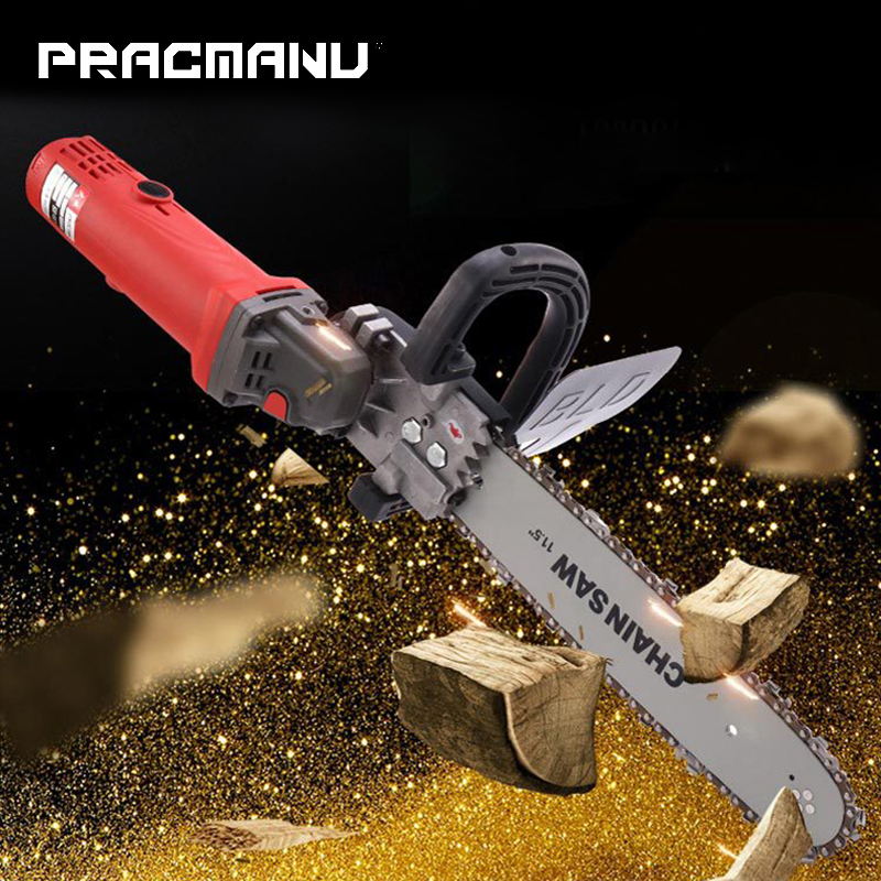PRACMANU Upgrade Electric Saw Parts 11.5 Inch M10 Chainsaw Bracket Changed 100 125 150 Angle Grinder Into Chain SawPRACMANU Upgrade Electric Saw Parts 11.5 Inch M10 Chainsaw Bracket Changed 100 125 150 Angle Grinder Into Chain Saw