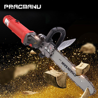 PRACMANU Upgrade Electric Saw Parts 11.5 Inch M10 Chainsaw Bracket Changed 100 125 150 Angle Grinder Into Chain Saw