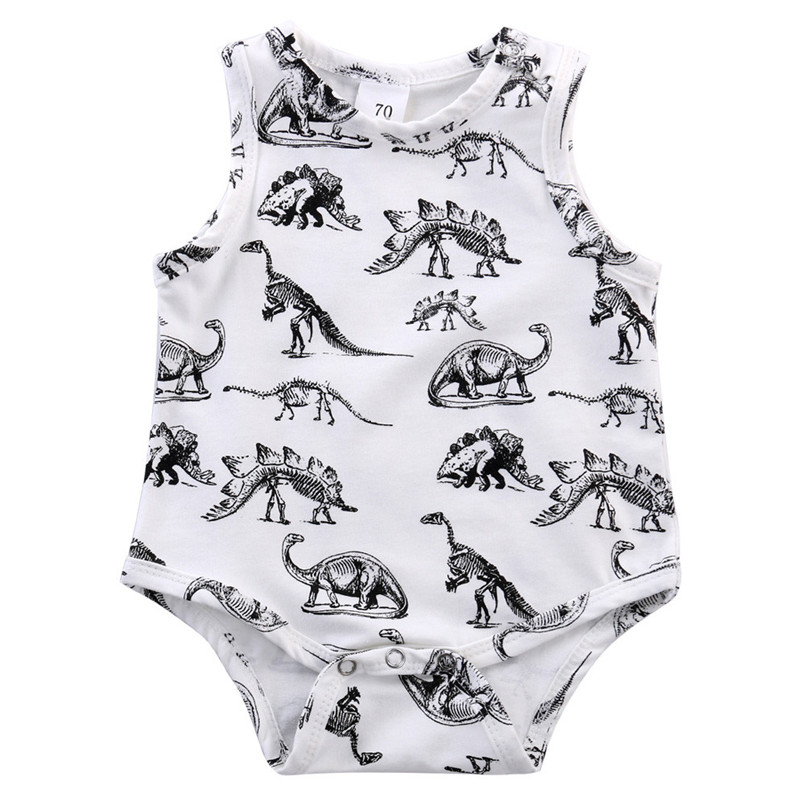 2018 Hot Sale baby rompers Newborn Infant Kids Baby Boy Girl Dinosaur Print Jumpsuit Romper Outfits Clothes roupa menina S