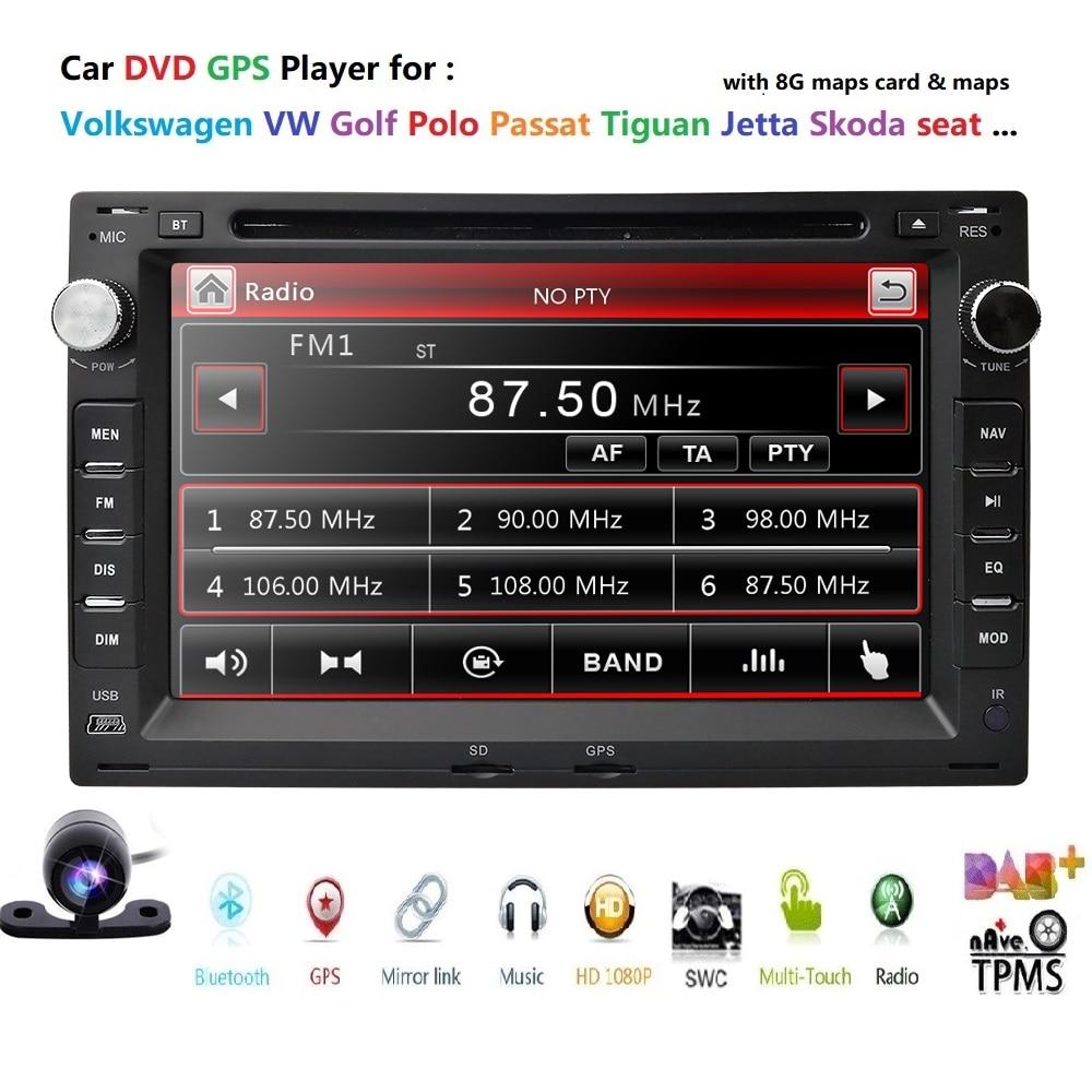 Car DVD Player for VW PASSAT B5 MK5 GOLF MK3 IV MK4 Polo MK4 Transporter T5 BORA Ford Galaxy Sharan SEAT 72 din GPS Navigation