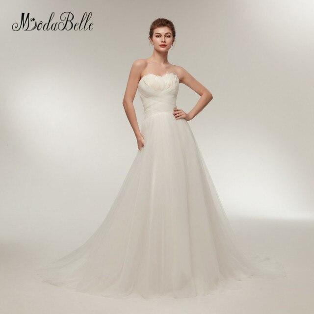 Us 123 0 Modabelle Sweetheart Summer Beach Wedding Dresses Simple A Line White Ivory Cheap Bridal Dress Vintage Bruidsjurken 2018 In Wedding Dresses
