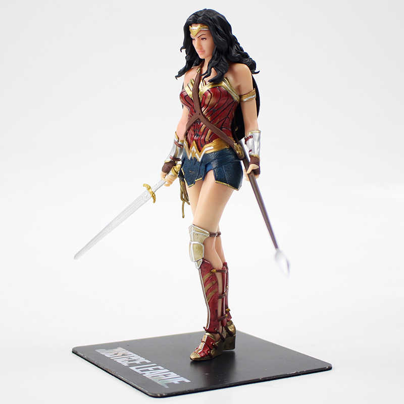17 centímetros Justice League Mulher Maravilha ARTFX + ESTÁTUA 1/10 Scale Pré-Pintado PVC Figura Collectible Modelo Toy Boneca caçoa o Presente
