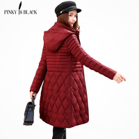 PinkyIsBlack 2018 Plus Size 5XL Winter Jacket Women Down Cotton Padded Coat Female Long Parkas Hooded Winter Coat Women Ourwear