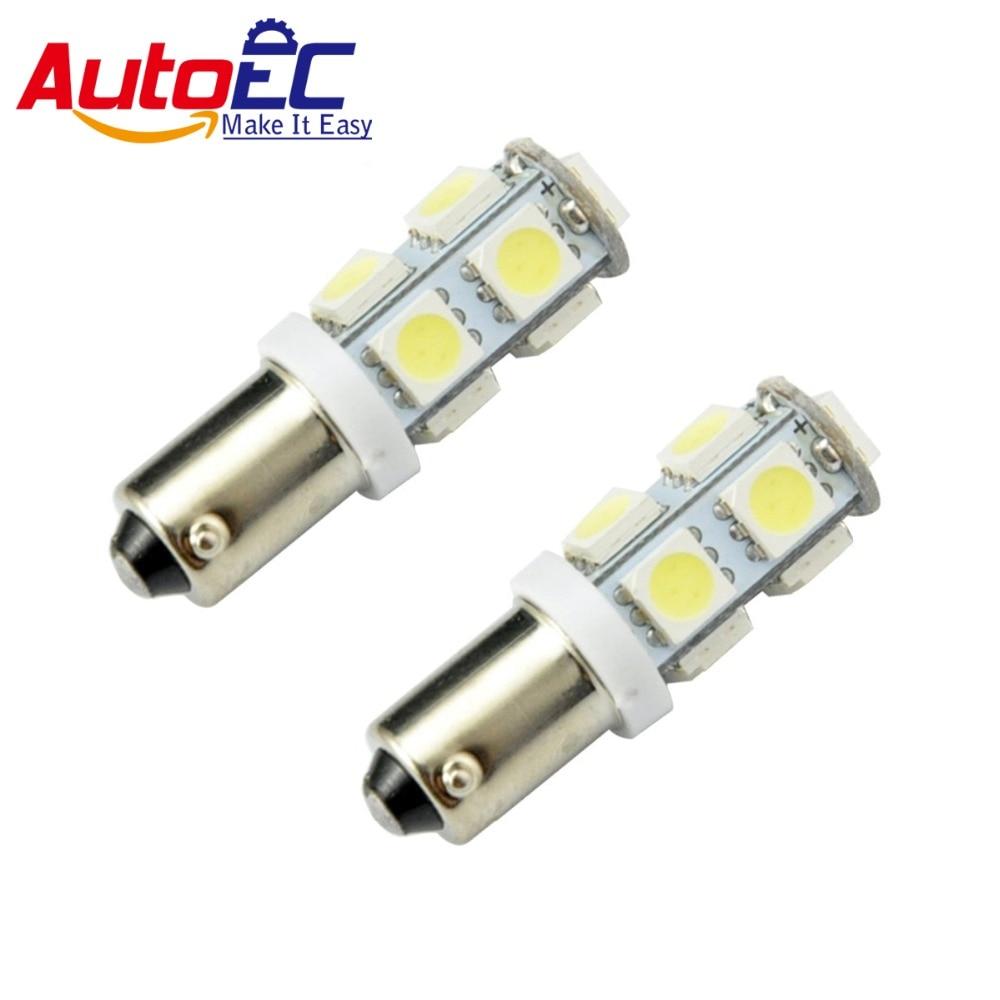 Autoec 100 x BA9S 9 SMD 5050 салона clearanceturn сигнал лампочки 12 В белый/синий/ красный # LG04