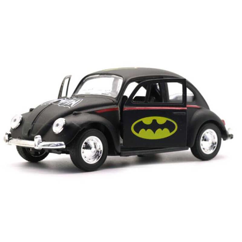 12.6 CENTÍMETROS Escala 1:32 Metal Modelo de Liga de Brinquedo Do Carro Puxar Para Trás Do Carro Diecasts Veículos Batman Coleção de Pintura Brinquedos Das Crianças Das Crianças