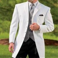 Wholesale New cowboy series white suit groom wedding suit Black Pants new design classic men's suit blazer(jacket and pants)