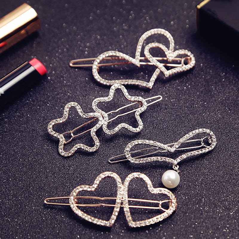 2x Style New Crystal Flower Mini Hair Claw Clamp Hair Clip Hair Pin 4H