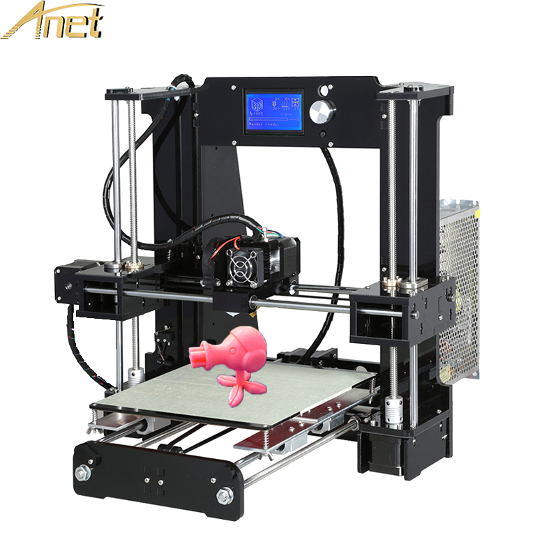 Hot Sale 3d-Printers Anet A6 A8 Auto leveling 3d Printer Easy assemble Precision Reprap 3D Printer Kit DIY With Free Filament anet a8 a6 3d printer high precision reprap diy 3d printer kit easy assemble with 12864 lcd screen display free filament