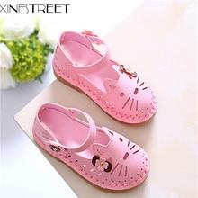 Xinfstreet модна принцесса одне взуття дівчата солодкий дозвілля дитяче взуття літня дихання мила кішка плоский Дитяче взуття