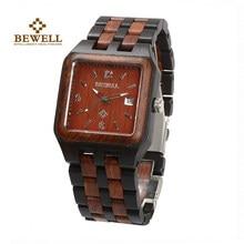 bba4a7a33ac7 BEWELL reloj de madera Natural hecho a mano Marca Diseño clásico estilo  cuadrado Dial marca de moda de dar un regalo 111A
