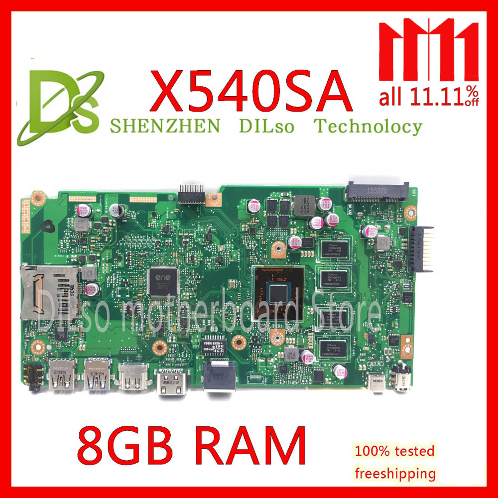 KEFU X540SA For ASUS X540SA F540S Laptop motherboard X540SA mainboard REV2.1 N3700U/N3050U processor original motherboard Test цены