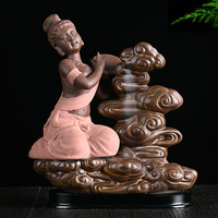 Flying fairies back cone aromatic fragrance incense tambourine ceramic incense smoke incense incense ceremony hot waterfall view