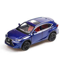 1:32 diecast alloy car model nx200t off-road vehicle kids toy car simulation sound and light pull back six door car decoration 1 32 high simulation alloy model car mustang car model toys 2open the door hot sell diecast metal toy vehicle free shipping
