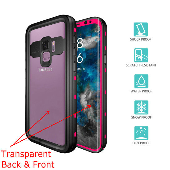 samsung s9 waterproof case (3) rose_