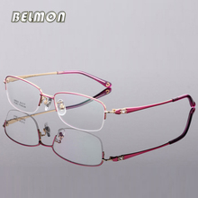Pure Titanium Spectacle Frame Women Eyeglasses Computer Optical Clear Lens Glasses Frame For Female Prescription Eyewear RS422