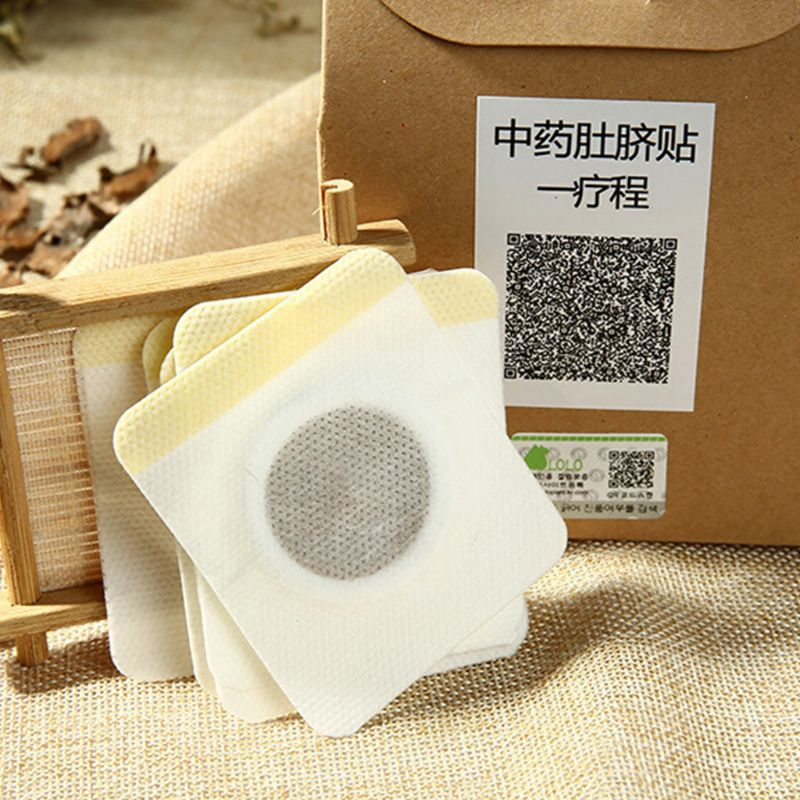 10Pcs/Box Chinese Medicine Weight Loss Slimming Diets Patches Navel Sticker Magnetic Detox Adhesive Sheet Fat Burning Pads