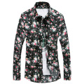 2016 Summer Fall Men Hawaiian Shirt Mens Floral Shirts Camisa Hawaiana Camicie Uomo Marca Men Long Sleeve Blouse Shirt