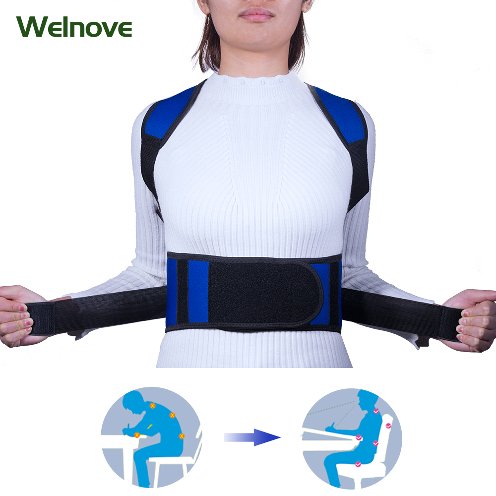 Unisex Adult Improved Humpback Belt Back Chest New Fully Adjustable Back Brace for Posture Correction Back Pain Support Z80101