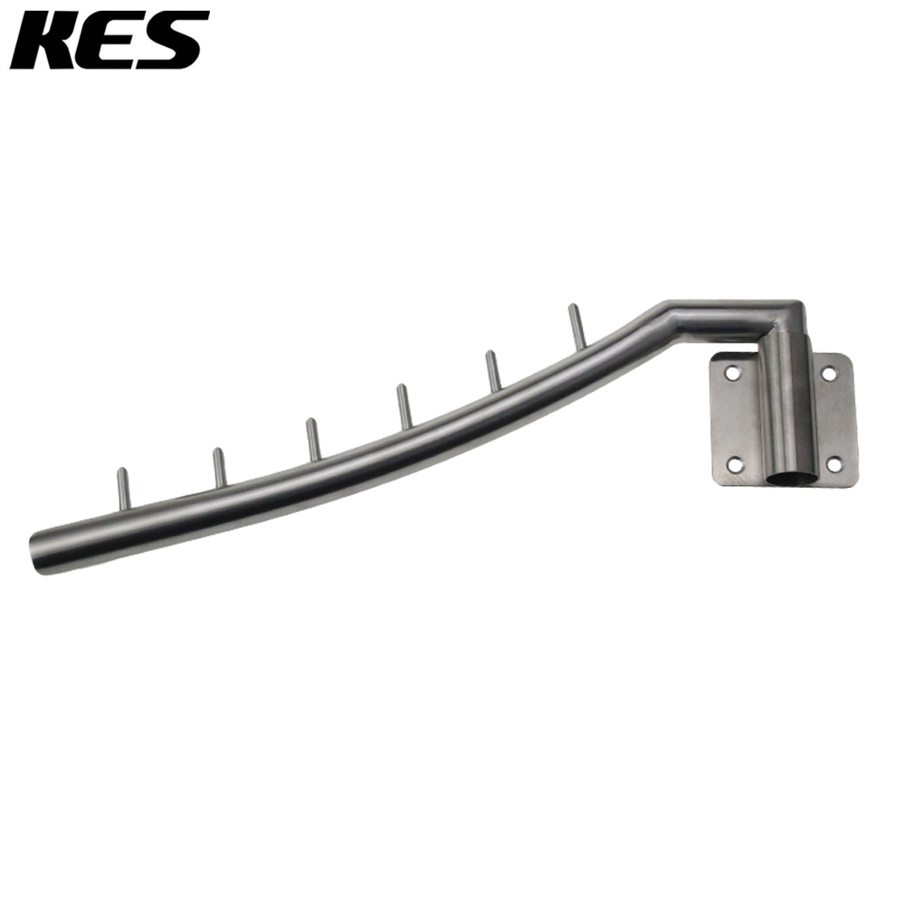 kes stainless steel clothes hanger with swing arm holder clothing hanging system duty drying rack wall mount brushed sch200 2 - Clothes Wall Hanger