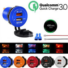 Автомобильное быстрое зарядное устройство qc 30 адаптер питания