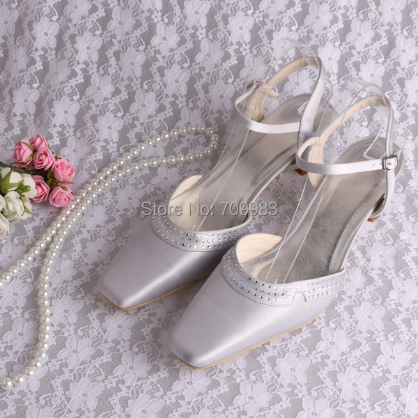 9cb8668471 US $45.0 |Magic Bride Silver Women Sandals Wedding Shoes for Women in Low  Heel Chunky Size 11 Free Shipping-in Women's Sandals from Shoes on ...