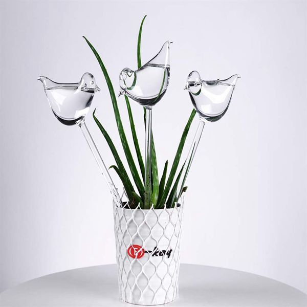3 Pack Plant Self Watering Globe Plants Water Bulbs Bird Shape Clear Glass Watering Device in Water Cans from Home Garden