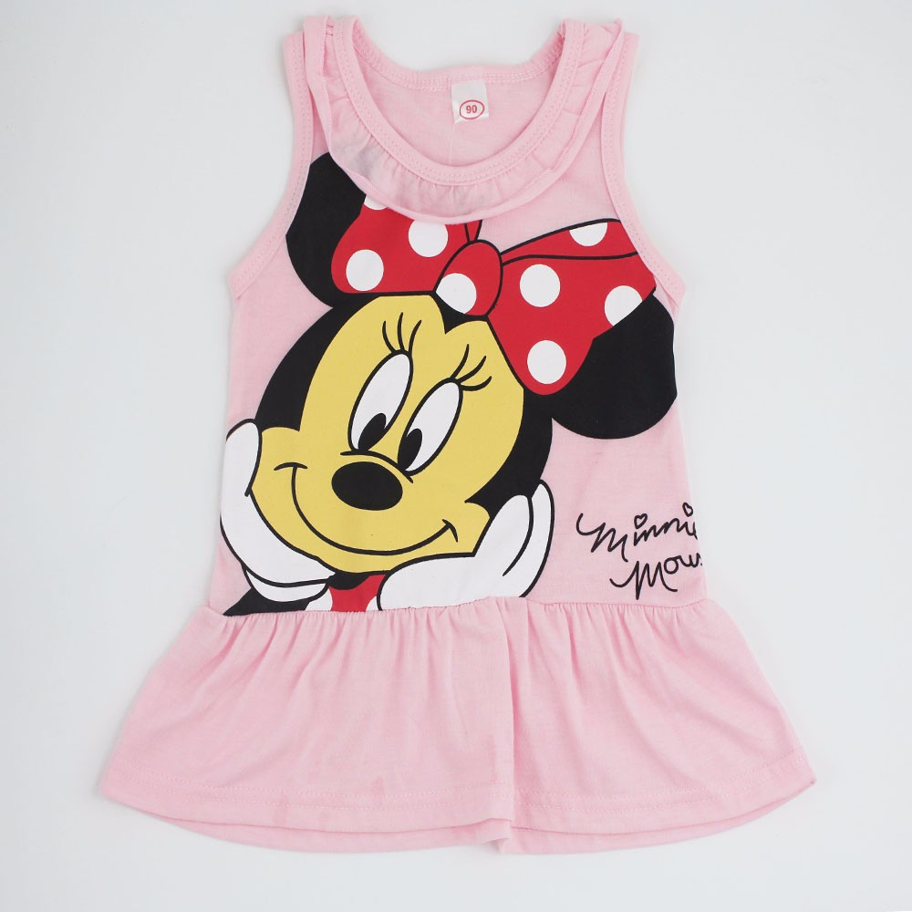 2018 Baby Girl Dress Minnie Mouse Dress Minnie Princess Short Vest Dress Summer Dress Vestido Minnie Robe Fille Enfant 6M-5Y simba пупс minnie mouse