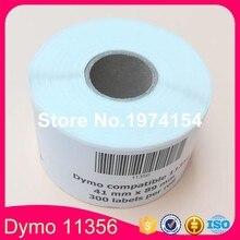 4 Совместимые рулоны Dymo 11356 этикетка 41 мм* 89 мм 300 шт. совместимый для LabelWriter 400 450 450 турбо принтер SLP-440 SLP-450