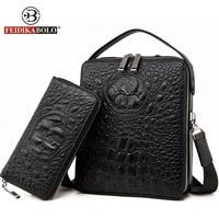 Famous Brand Bag Men Messenger Bags Double Zipper Trunk Leather Handbags Men Bag Shoulder Bags Designer