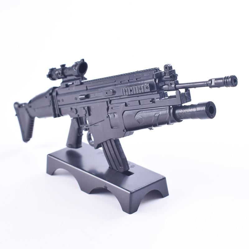 "FN Scar Set Weapon for 12/""Soldier Figure 1:6 MG62 Heavy Machine Rifle Gun Model"