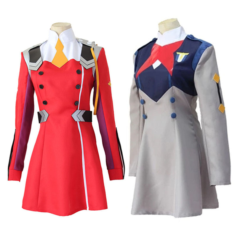 DARLING in the FRANXX Cosplay Combat Uniform Carnival Party School Uniform  Beautiful Summer Dress Gift for Woman