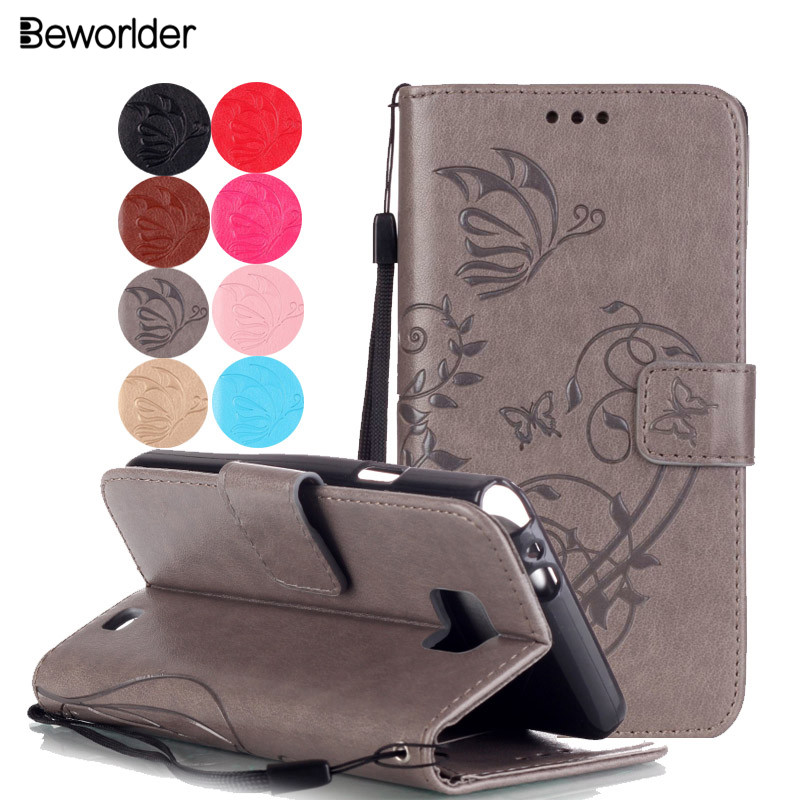 Beworlder For Samsung S2 Case Flip Wallet Embossing Leather Case TPU Phone Case Cover For Samsung Galaxy S 2 I9100 Card Slots ...