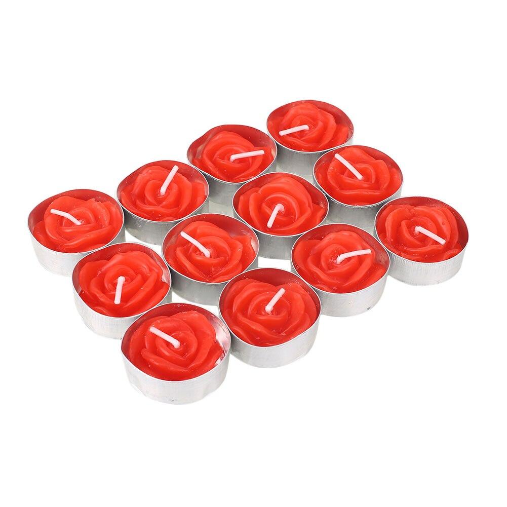 Красочный розовый/Красный воск Свеча для принадлежности для свадебной вечеринки для дома и сада День Святого Валентина орнамент фестиваль для гаджета - Цвет: red