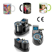 Mug Heat Press PNEUMATIC AUTO ST-110 Sublimation Mug Print Transfer Black White diy mug yiwu China(China)