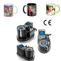 Mug Heat Press PNEUMATIC AUTO ST-110 Sublimation Mug Print Transfer Black White diy mug yiwu China