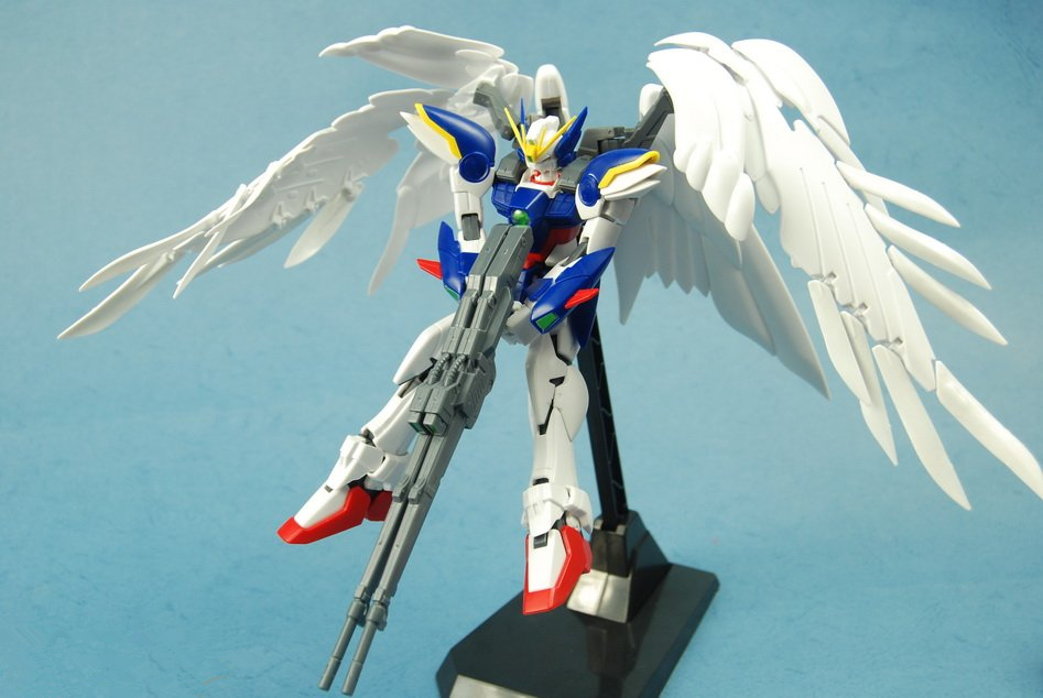 mylb Free shipping action figure robot anime assembled gundam 1:100 fly wing zero soldiers 028 building model free shipping new 1 100 mg 20cm wing zero ew high fly gundam to 1 100 angel hair loss bracket change parts
