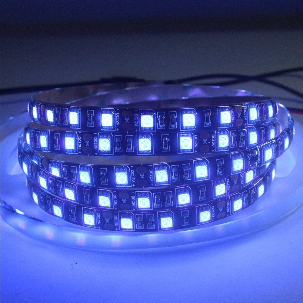 12V Black PCB UV Led Strip Light 5050 SMD Waterproof Night Fishing Ultraviolet Flexible LED Tape Ribbon Lamp Implicitly Party