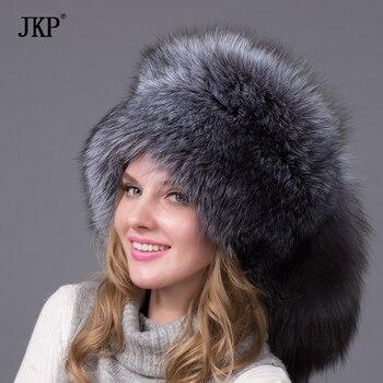 12709db2d Silver Fox Fur Ushanka Hat 100%Real Fur . Silver fox With a fox tail,