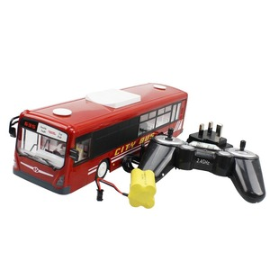 Image 2 - RC Car 6 Channel 2.4G Remote Control Bus City Express High Speed One Key Start Function Bus with Realistic sound and Light